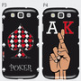 Carcasa Samsung Galaxy S7-s6-edge-j7-s5-s4-s3 Poker Cartas K