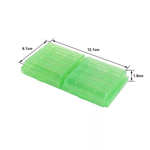 estuches plasticos para pilas o baterias aa y aaa pack x4