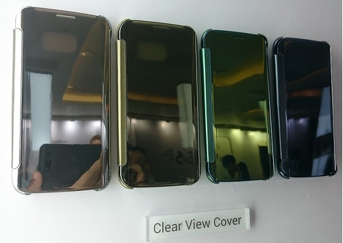 estuches s view cover galaxy s6 edge plus, plateado.