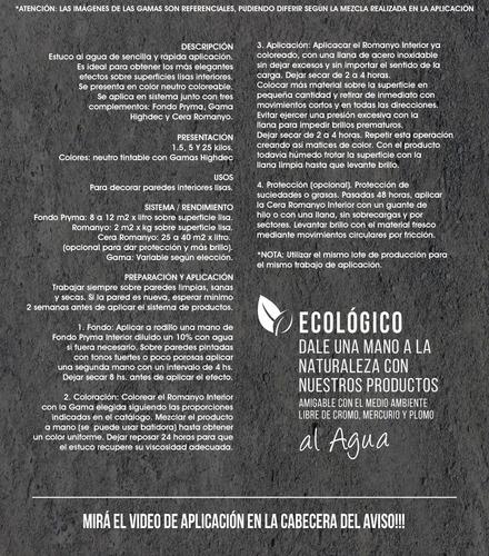 estuco veneciano 5kg efecto mármol envio gratis* + promo eco