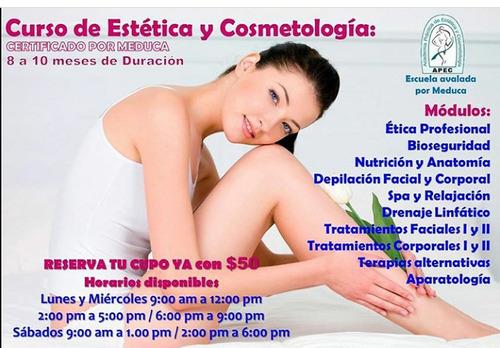 estudia estetica y cosmetologia en apec, curso avalado