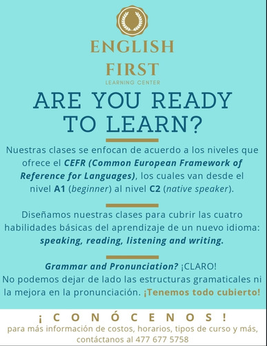 estudia inglés en english first. learning center!