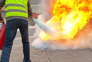 estudio carga de fuego - medición puesta a tierra