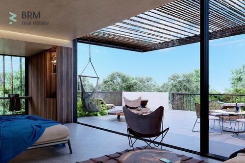 estudio. con alberca privada y terraza.