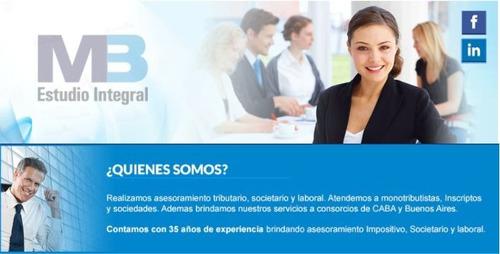 estudio contable, administracion de consorcios, sas en 24hs