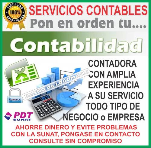 estudio contable  cel: 947617615