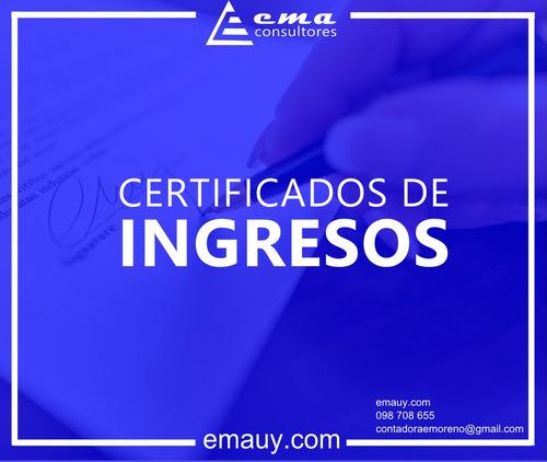 estudio contable - gestoria - certificados de ingresos