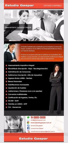 estudio contable impositivo - abogado - gestor - extranjeros