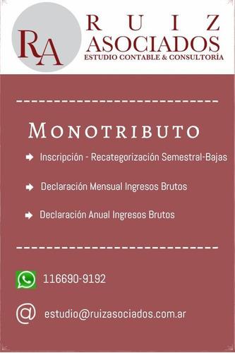 estudio contable monotributo autónomo certificación ingresos