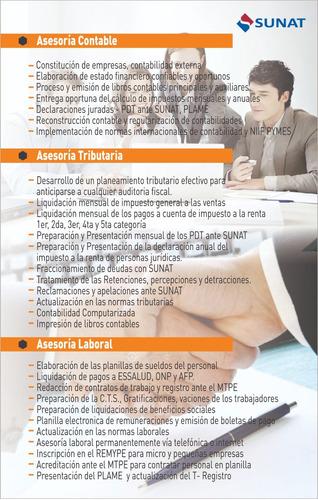 estudio contable morales & moreno asesores consultores sac