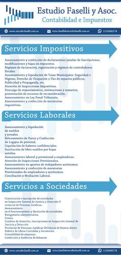 estudio contable - servicios impositivos, laborales y soc.
