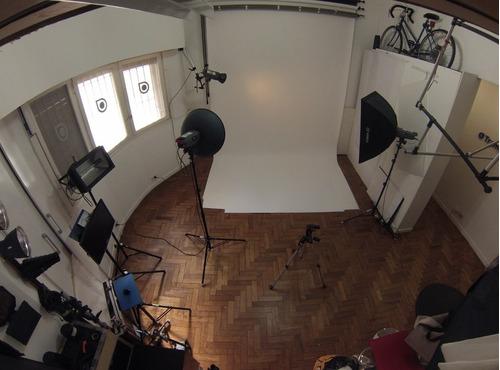 estudio de fotografia alquiler las 2 hs a $ 450.- equipado