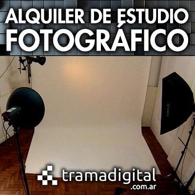 estudio de fotografia alquiler por 2 hs a $ 450.-