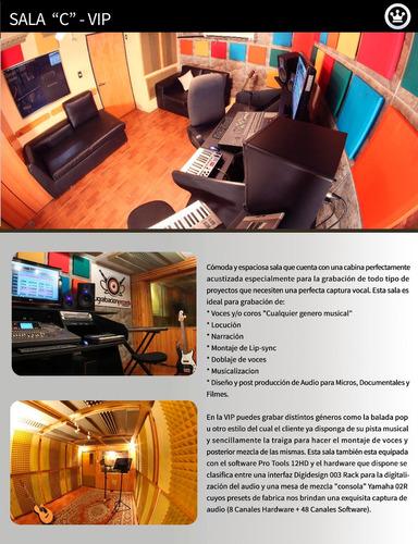estudio de grabacion de audio + grabación y edición de video