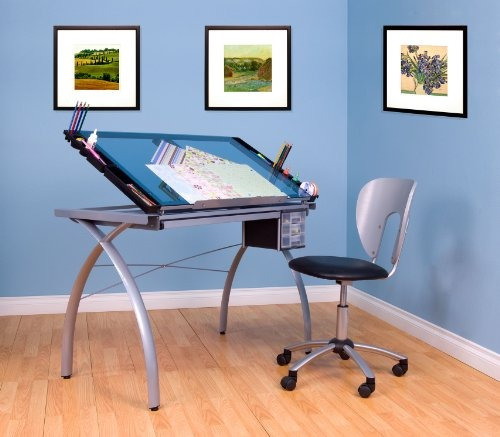 estudio diseños 10050 futura craft station, plata /azul