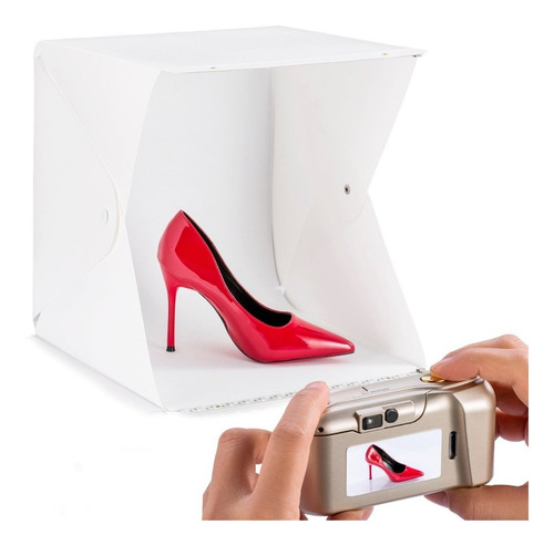 estudio fotografía profes portátil +fondos caja luz led mini