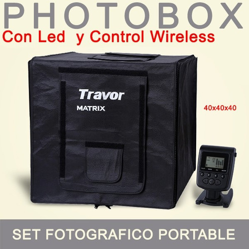estudio fotografico portable / photobox 40x40 led