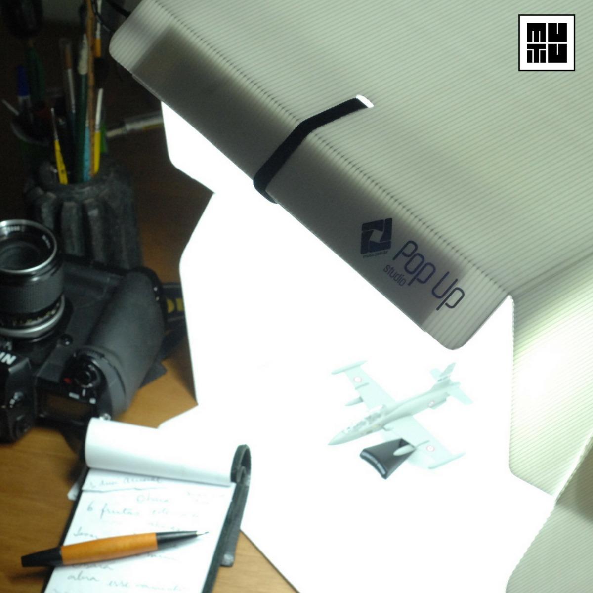 8dda1047aa9 Estúdio Fotográfico Portátil Com Iluminação Led 5600 Lumens - R  219 ...