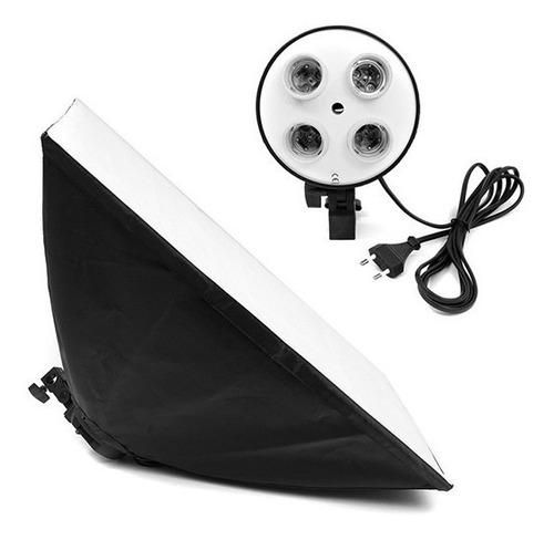 estúdio iluminação quadruplo softbox octabox youtubers