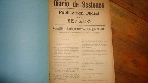 estudio ley de colonización agrícola 1934 camara senadores