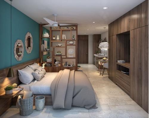 estudio tipo hotel en venta en playa del carmen