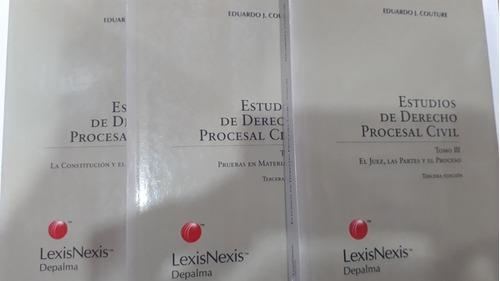 estudios de derecho procesal civil - 3 tomos - e. j. couture