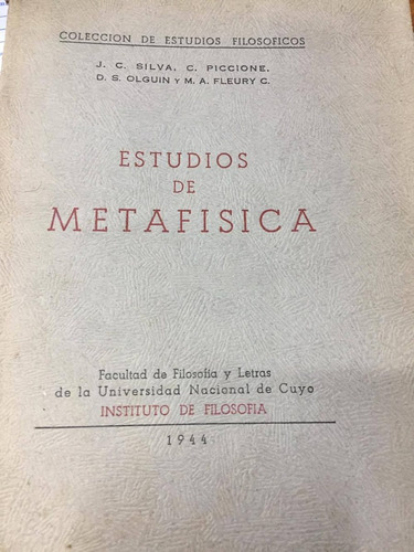 estudios de metafisica. piccione. fleury. c1