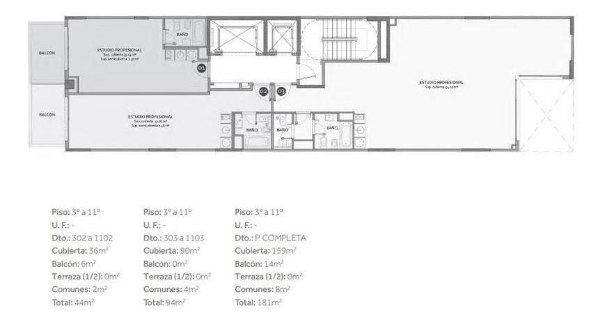 estudios profesionales y viviendas. en belgrano cocheras en subsuelo