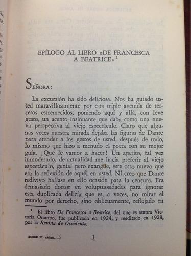 estudios sobre el amor. josé ortega y gasset. filosofía.