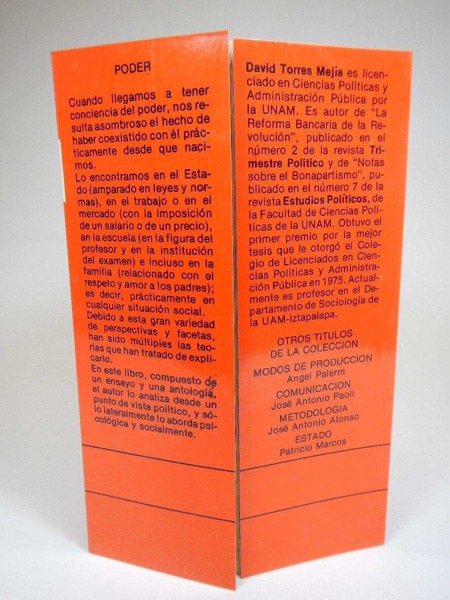 Estudios Sobre El Poder Sociología David Torres Mejía A3 - $ 284.00 ...