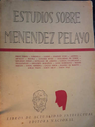 estudios sobre menendez pelayo - perez embid - b143