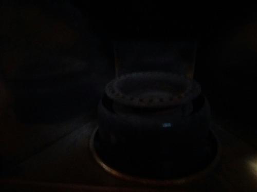 estufa a kerosen con su marca