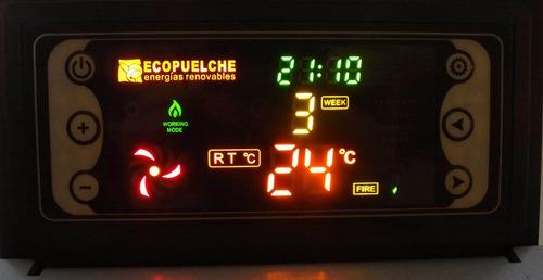 estufa a pellet ecopuelche rayen 11kw 120m²