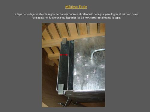 estufa caldera calefactor inox a leña: tinas hottub piscinas