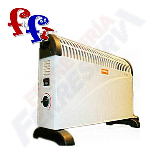 estufa calefactor convector hessen home 2000w de pie ff