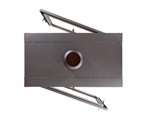 Estufa calefactor insertable doble frente uke lanin u s for Lanin muebles