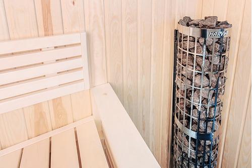 estufa calentador eléctrico cilindro 9 kw sauna - harvia