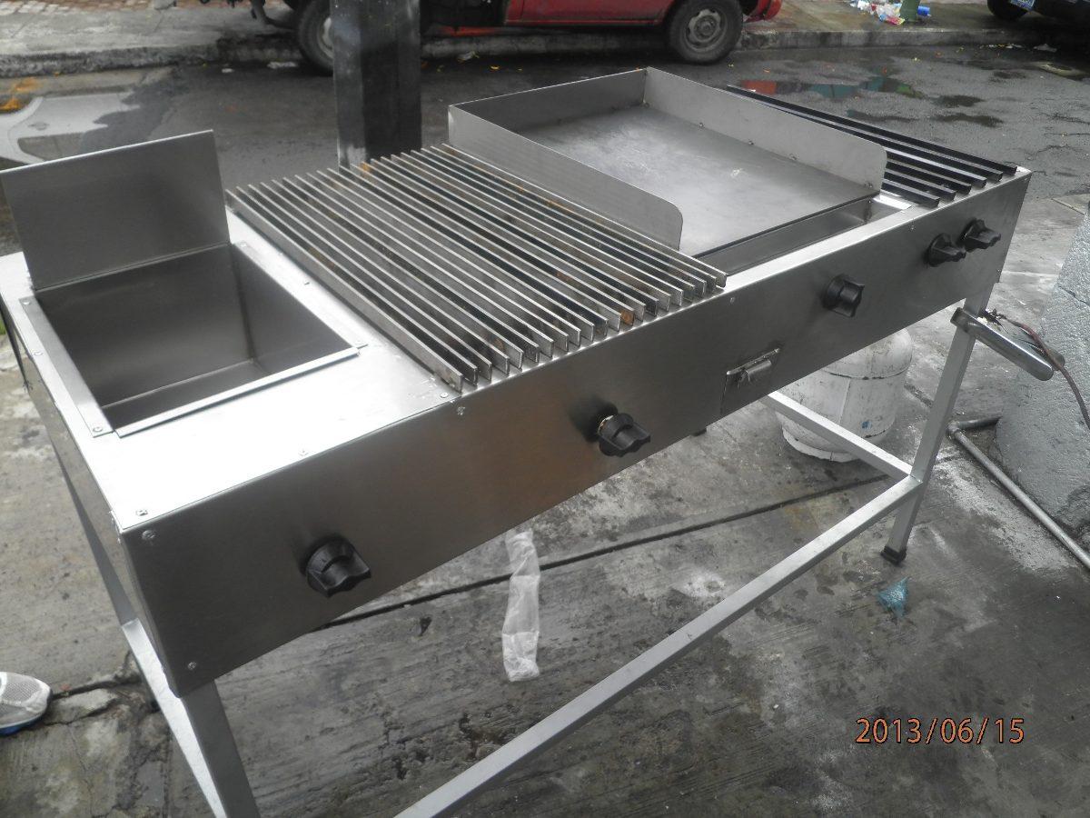 Estufa con plancha asador freidora y dos quemadores for Cuanto vale una estufa industrial