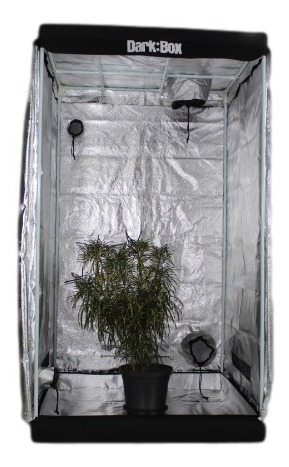 estufa dark box cultivo grow indoor 100x100x180 led refletor