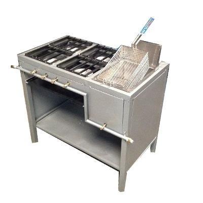Estufa de 4 hornillas y freidora para industrial negocios for Freidora industrial