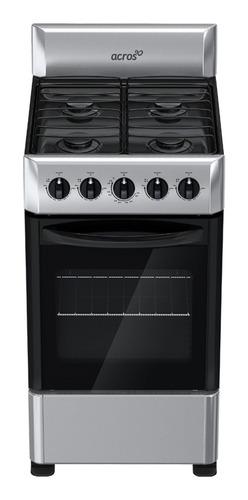estufa de 4 quemadores acros de 20  gris con negro nueva naw-1001s encendido cerillo
