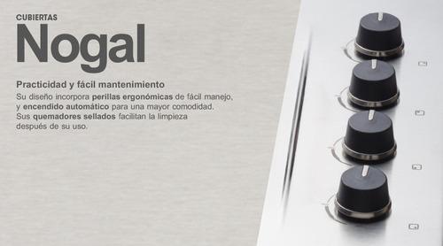 estufa de empotrar nogal cristal 60x43 cm haceb gas natural