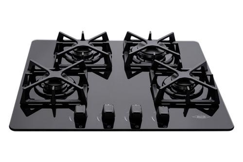 estufa de empotrar nogal cristal 60x50 cm gas natural