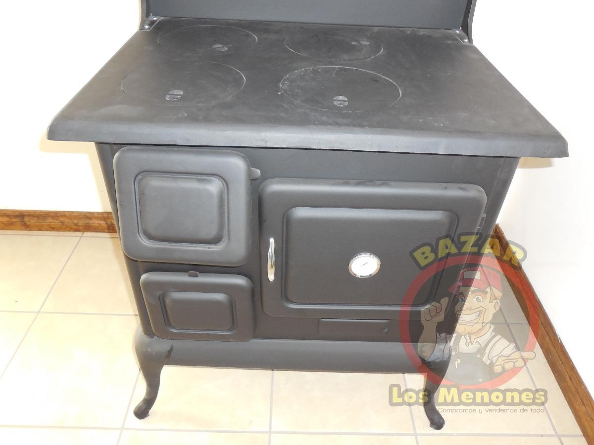 Estufa de le a con horno chimenea calentador calent n - Chimenea horno de lena ...
