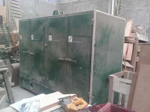 estufa de. madera. y. prensa hidráulica de 180 ton. hecha po