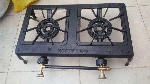 estufa de mesa de dos hornillas