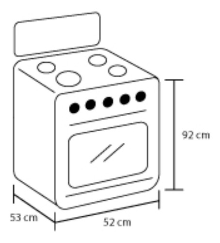 estufa de piso haceb super ultra 50 cm gas natural