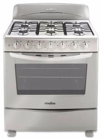 estufa de piso mabe 6 quemadores horno encendido electrónico