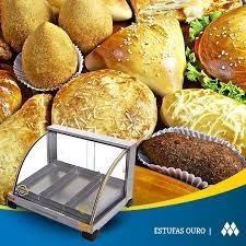 estufa de salgados quente elétrica de 3 bandejas curva