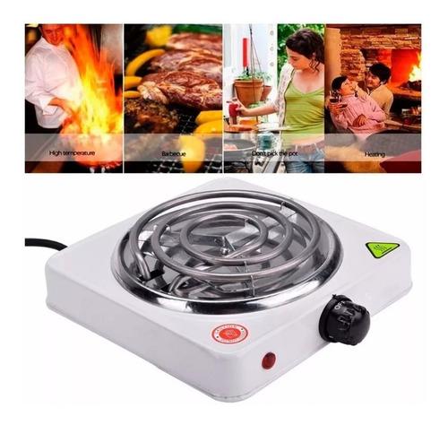 estufa eléctrica 1 puesto fogon portátil camping 1000w 110v